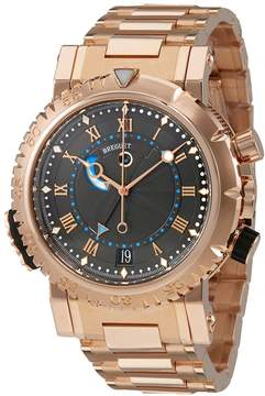 Breguet Marine Royale Black Rhodium Dial Men's 18kt Rose Gold Watch