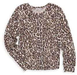 Splendid Girl's Leopard Sweater