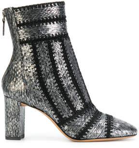 Alexandre Birman textured zip ankle boots