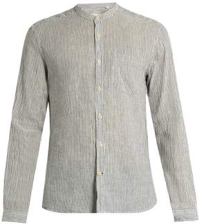 Oliver Spencer Grandad-collar linen-blend shirt