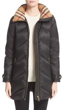Burberry Women's Eastwick Chevron Quilted Coat