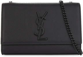 Saint Laurent Monogram Kate small pebbled leather cross-body bag - BLACK BLACK - STYLE