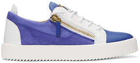 Giuseppe Zanotti Blue and White May London Sneakers