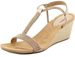 Style&Co. Style & Co Mulan 2 Open Toe Canvas Wedge Sandal.