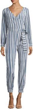 Calypso St. Barth Women's Mahonia Silk Striped Jumpsuit