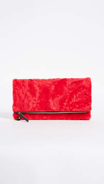 Clare Vivier Fold Over Shearling Clutch