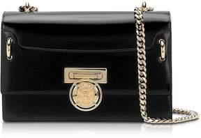 Balmain Glossy Black Leather BBox 25 Flap Bag