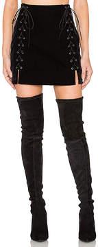 Endless Rose Lace Up Mini Skirt