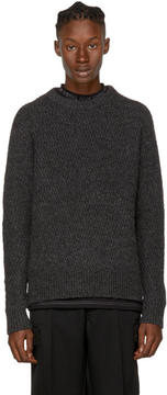 Acne Studios Grey Nyle Zig Zag Sweater