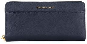 MICHAEL Michael Kors Continental Jet Wallet Set In Black Saffron Leather - ADMIRAL - STYLE