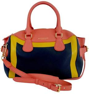 Burberry Limited Edition Bee Colorblock Leather Satchel Bag - NAVY - STYLE