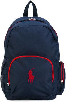 Ralph Lauren Kids logo embroidery backpack