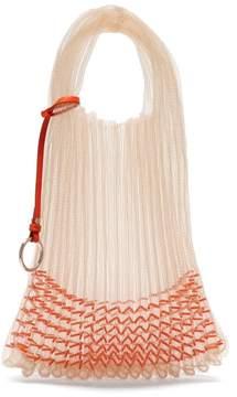 Jil Sander Beaded Small Market Bag - Womens - Orange