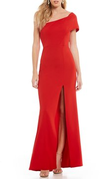 B. Darlin One-Shoulder Long Dress