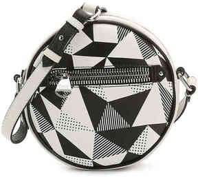 Women's Lottie Leather Crossbody Bag -Black/White
