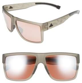 Women's Adidas 3Matic 60Mm Sunglasses - Grey Camo Print/ Taupe
