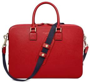 Aspinal of London Small Mount Street Bag In Scarlet Saffiano