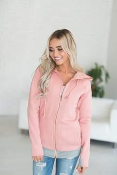 Ampersand Avenue FullZip Hoodie - Thick Pink