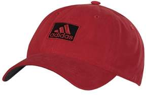 adidas 2017 Cotton Relaxed Hat (Power Red/Black)