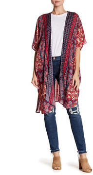 Angie Dolman Sleeve Print Kimono