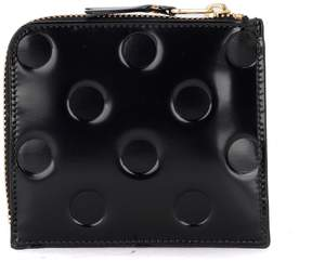 Comme des Garcons Black Shiny Printed Leather Coin Purse
