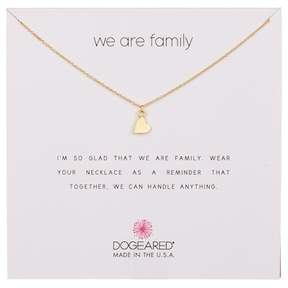 Dogeared 14K Gold Vermeil We Are Family Sideways Heart Necklace