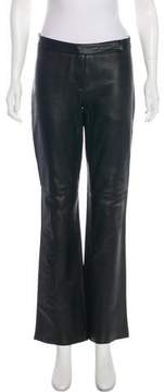 Laundry by Shelli Segal Mid-Rise Leather Pants