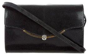 Gucci Vintage Lizard Shoulder Bag - BLACK - STYLE