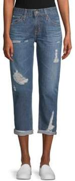 AG Adriano Goldschmied Ex-Boyfriend Distressed Cotton Jeans