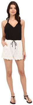 6 Shore Road by Pooja Malay Lace Romper Cover-Up Women's Jumpsuit & Rompers One Piece