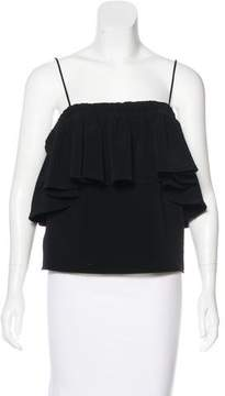 Atelier Twilley Sleeveless Ruffle-Trimmed Top