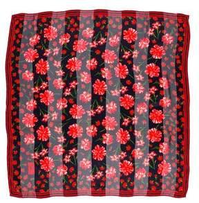 Saint Laurent Silk Floral Print Scarf