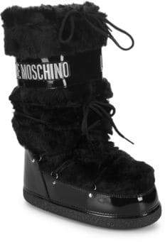 Love Moschino Faux-Fur Moon Boot