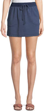 Allen Allen Cargo Terry Mini Skirt