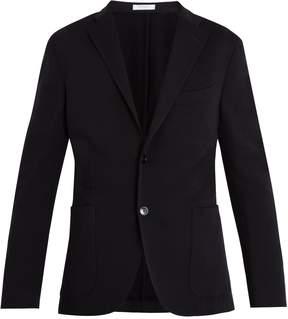 Boglioli Single-breasted notch-lapel wool-jersey blazer