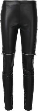 Amen skinny zipped biker trousers