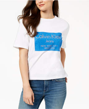 Calvin Klein Jeans Cotton Metallic Logo T-Shirt