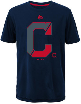 Majestic Cleveland Indians Split Series Ultra T-Shirt, Big Boys (8-20)