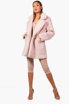 boohoo Collar Faux Fur Coat