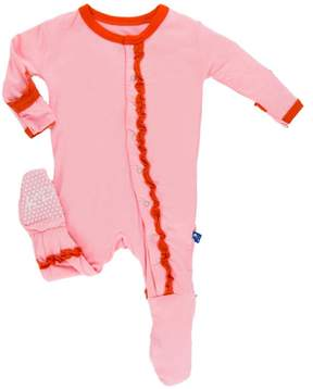 Kickee Pants Lotus & Poppy Ruffle-Footie