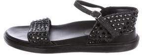 Marni Embellished Canvas Sandals