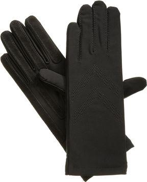Isotoner Women's Spandex Three Button Chervon Glove XL