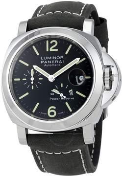 Panerai Luminor Automatic Black Dial Black Leather Men's Watch