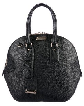 Burberry Leather Orchard Bag - BLACK - STYLE