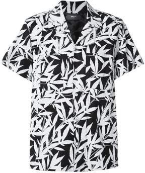 Amiri leaf-print short sleeve shirt