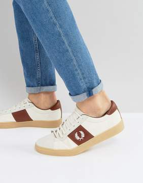 Fred Perry Spencer Canvas and Suede Sneakers in White