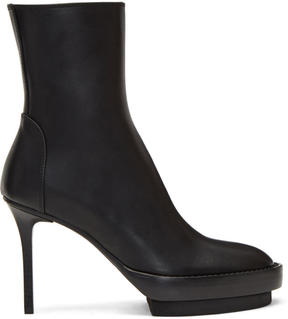 Ann Demeulemeester Black Stiletto Heeled Boots