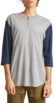 Brixton Men's Wheeler Three-Quarter Sleeve Henley