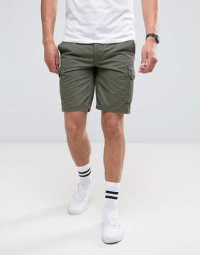 Pull&Bear Cargo Shorts In Khaki