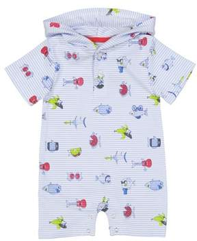 Andy & Evan Stripe Fish Romper
